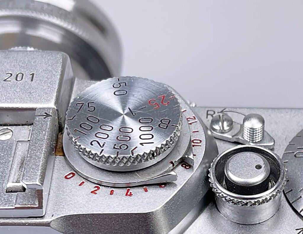 Leica-IIIf-Verschlusszeiten - Einstellrad