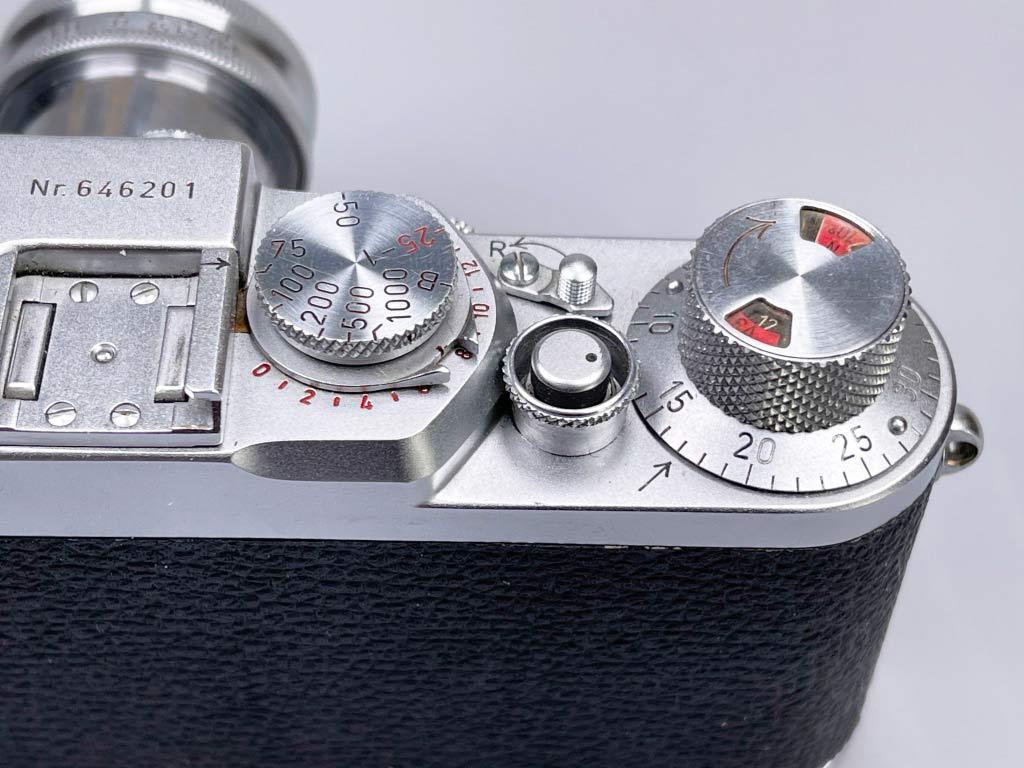 ISO Einstellrad bei der Leica IIIf