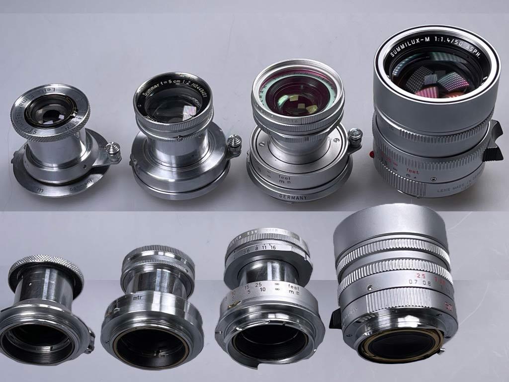 Schraubobjektive für Leica und Objektive mit M Bajonett Anschluss