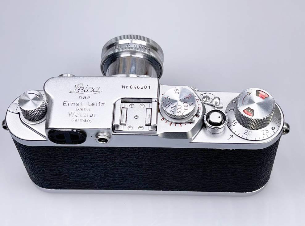 Leica IIIf Blick von oben