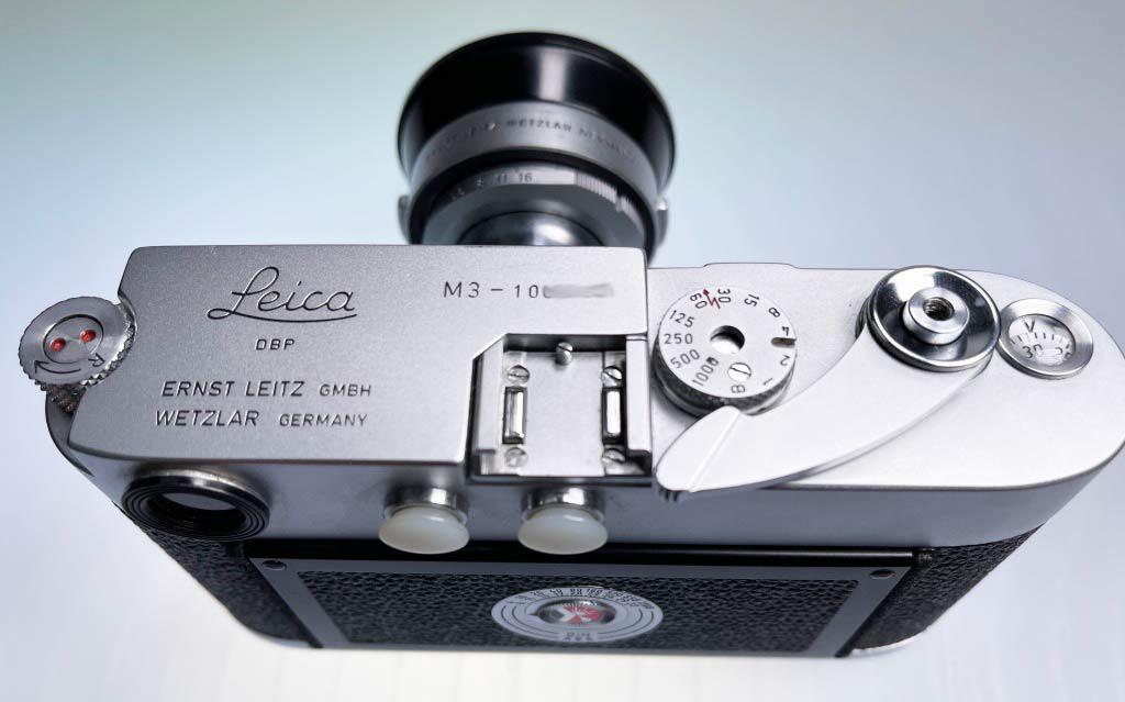 Draufsicht der Leica M3 von 1960