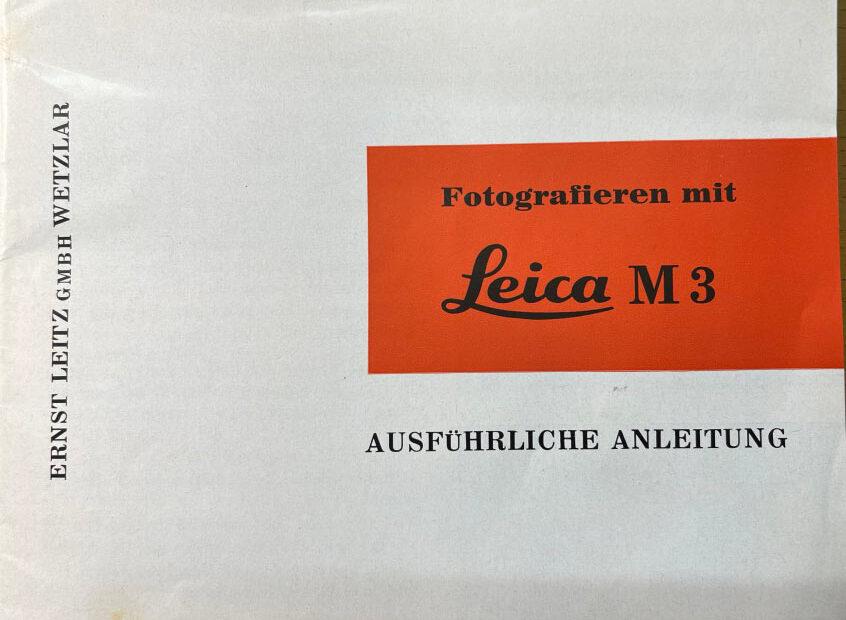 Leica M3 Bedienungsanleitung