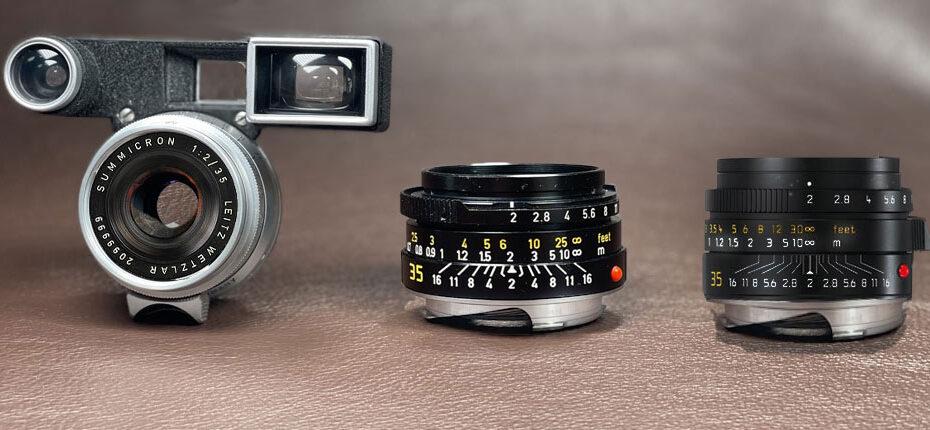 3x Leica Summicron-M 35mm