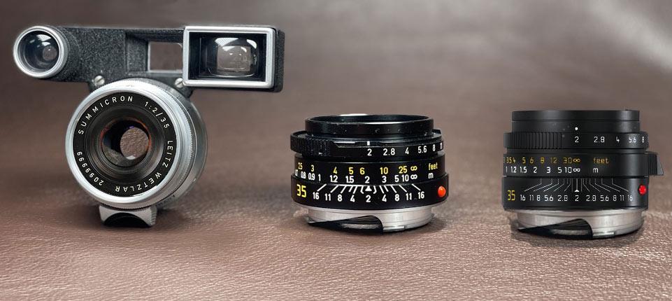 Der Test wurde mit diesen drei Summicron 35mm durchgeführt