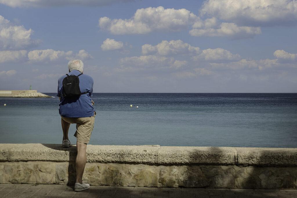 Später Nachmittag am Meer, aufgenommen mit der Leica CL, Summicron 23mm
