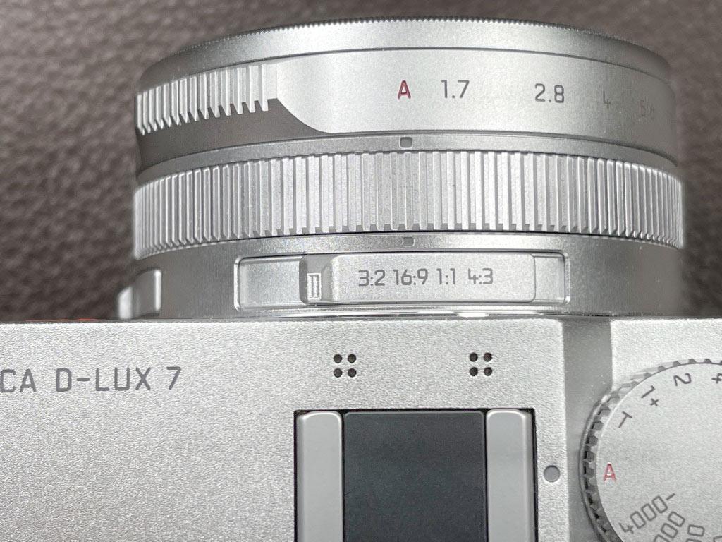 D-Lux 7, Ansicht des Einstellungsbereichs der Aufnahme-Modi