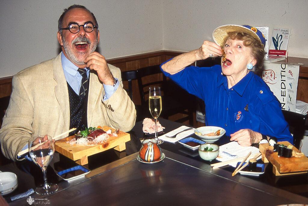 mit Udo Walz und Inge Meysel beim Sushi Essen, aufgenommen mit meiner Leica M6. © Horst K. Berghäuser