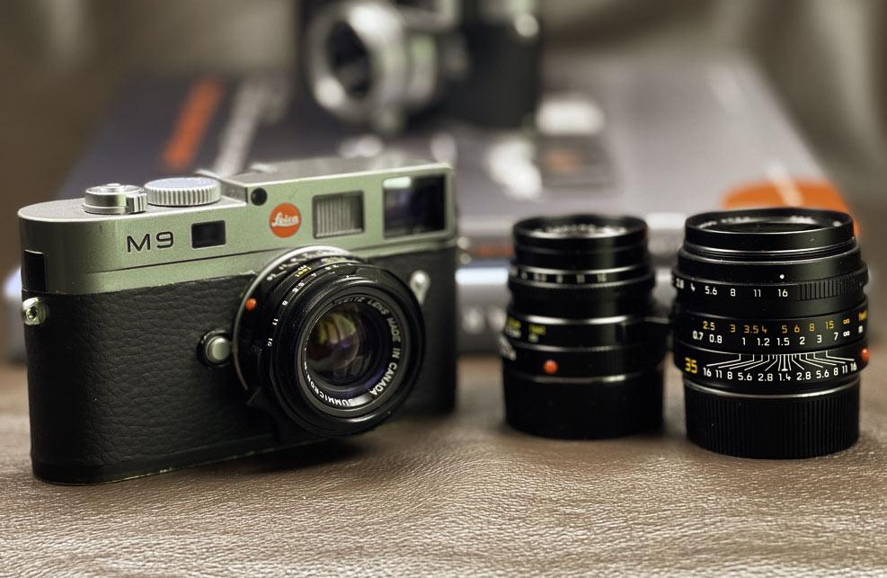 Leica M9 mit Summicron 35mm, diese Kamera gehört ebenfalls zum Leica M-System