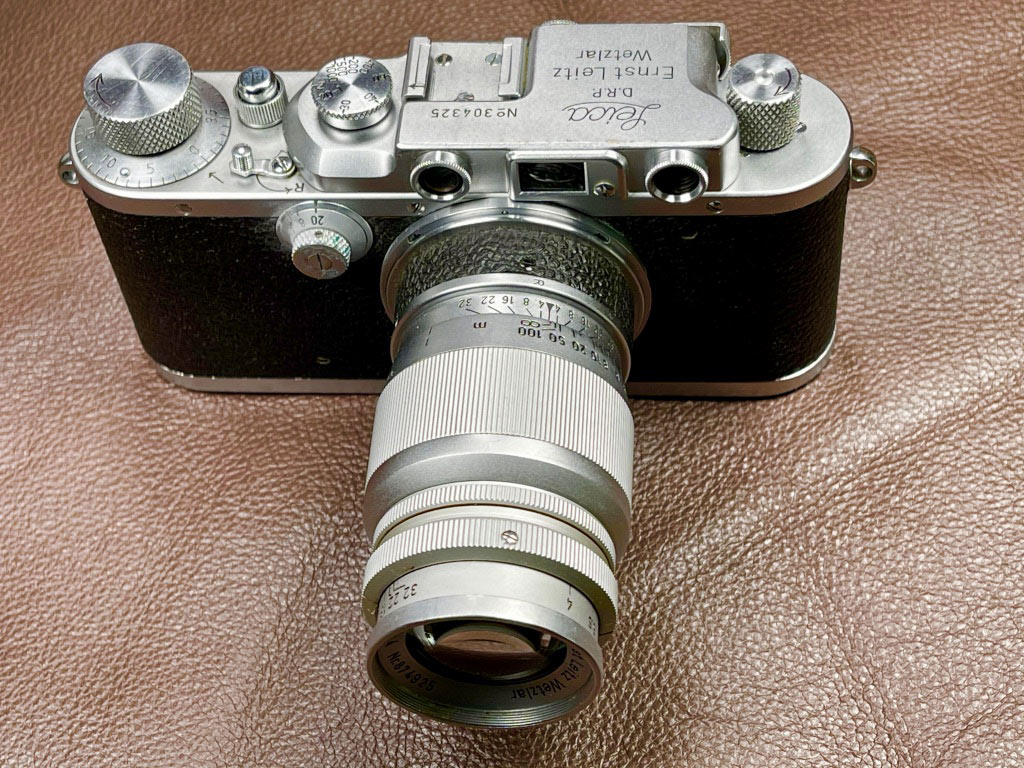Hier ein Foto meiner Leica IIIa von 1938