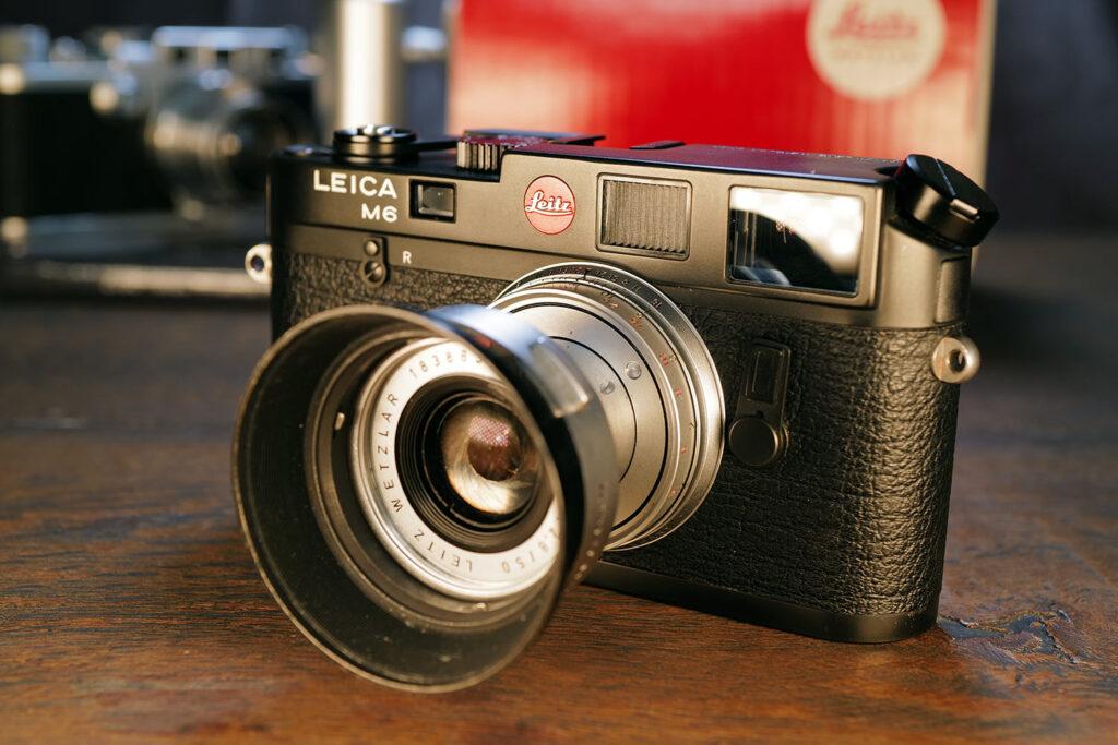 Leica M6 von 1988 mit dem versenkbaren Elmar 50mm von 1961