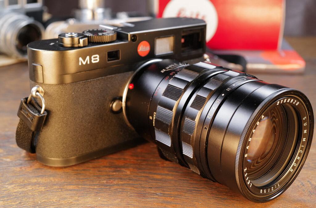 Meine Leica M8 mit dem Summicron-M 90mm von 1965