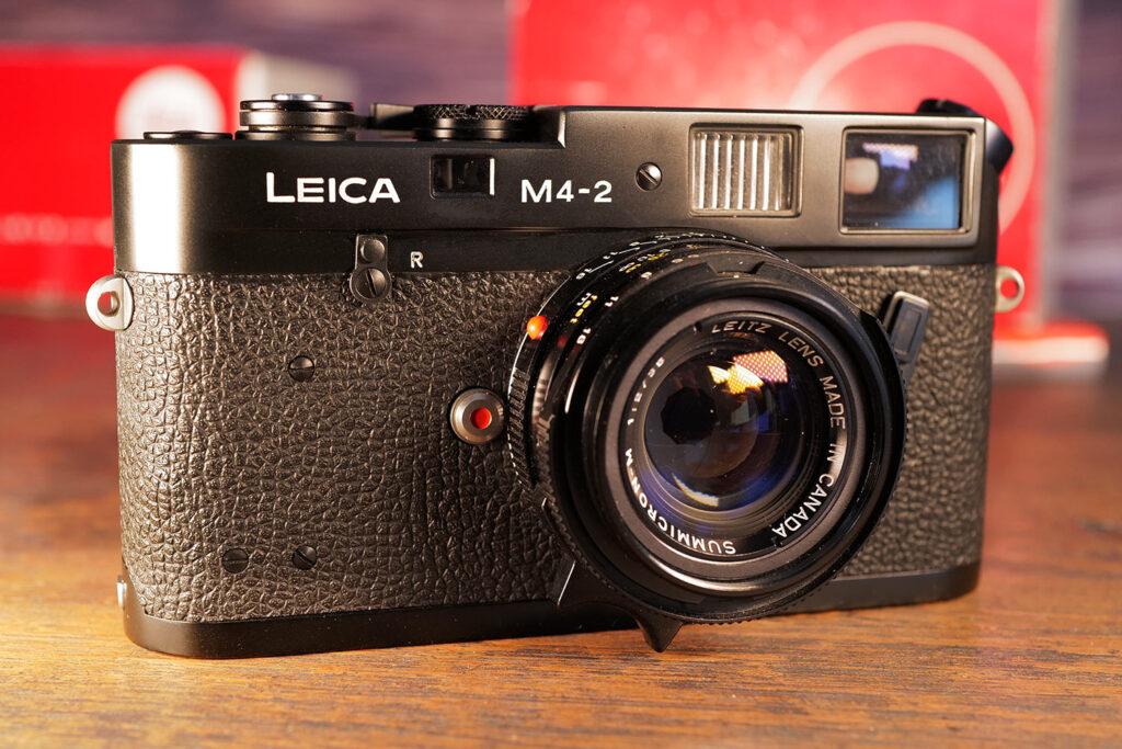 Leica M4-2 aus dem Jahr 1979, die ich 1980 gekauft habe mit dem Summicron-M 35mm