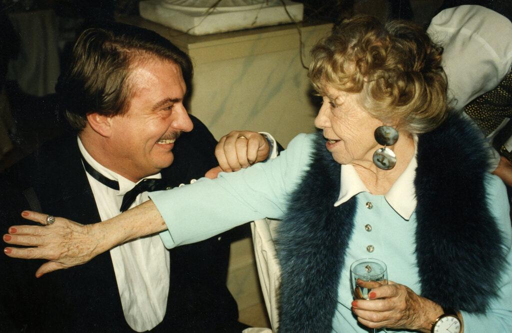 Inge Meysel und Horst K. Berghäuser bei einer Dinner Gala in Berlin